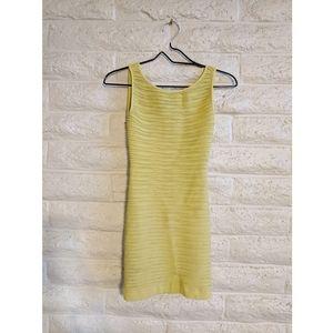 BCBGeneration Dresses - BCBG   textured citron yellow mini dress xs/s euc